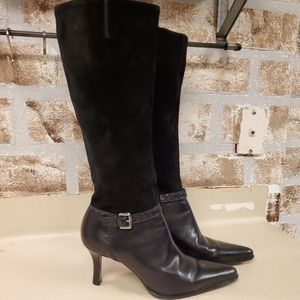 Franco Sarto suede and leather boots